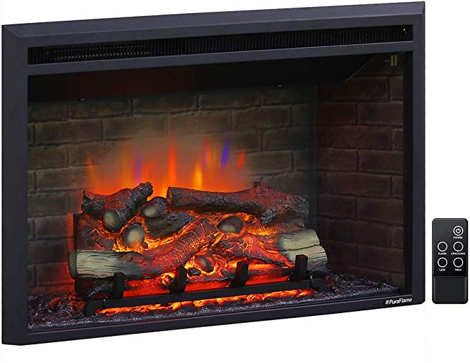 Amazon Com Puraflame 33 Inches Western Electric Fireplace Insert