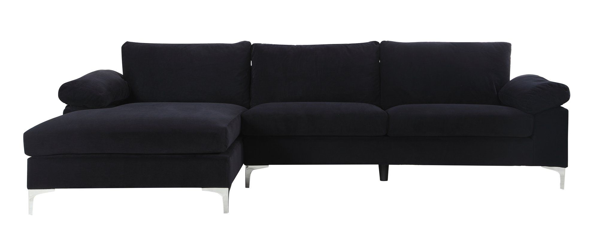Fantastic Kailey Modern Sectional Black Velvet Yes Home Decor Uwap Interior Chair Design Uwaporg