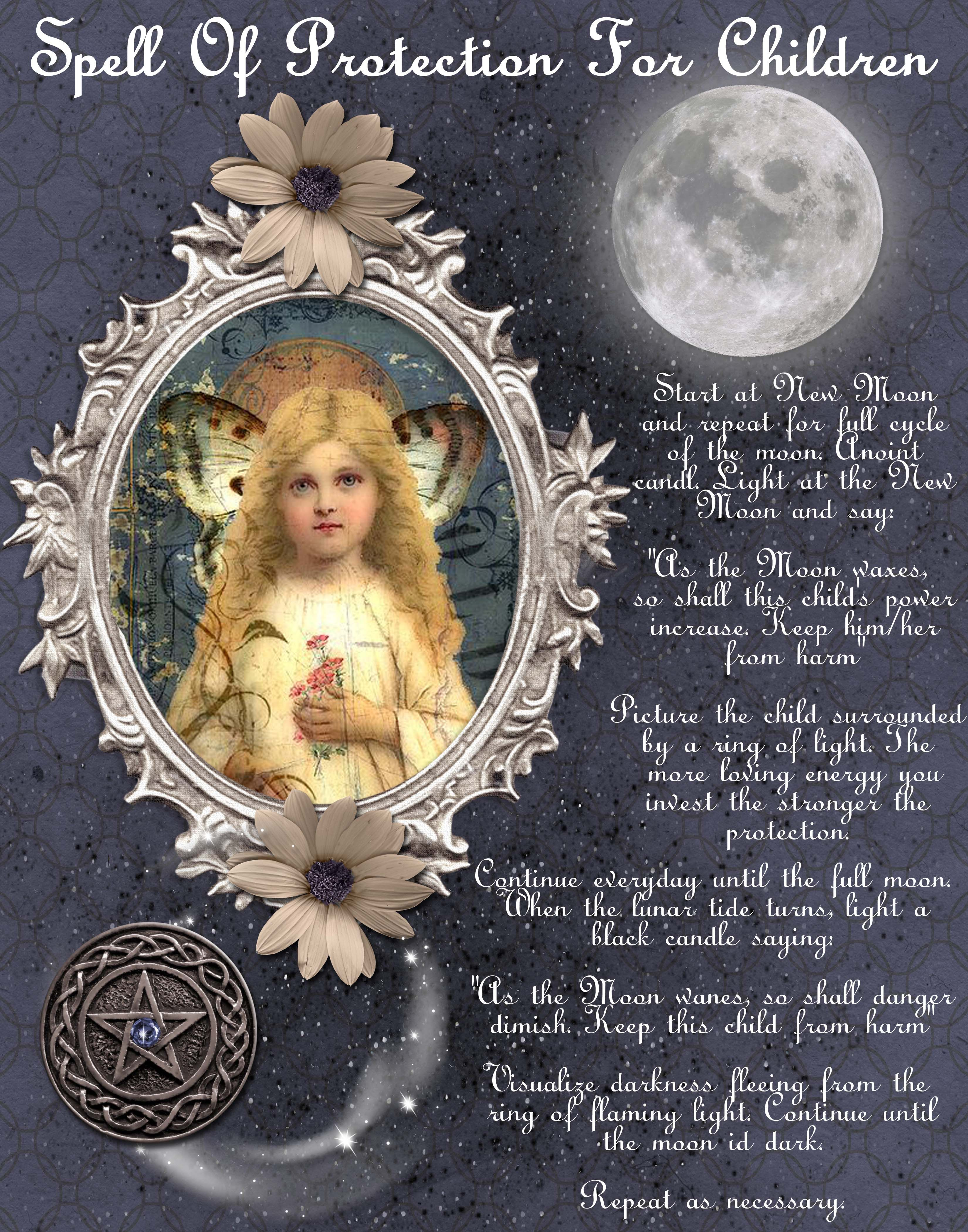 child protection spell magikal musings pinterest protection
