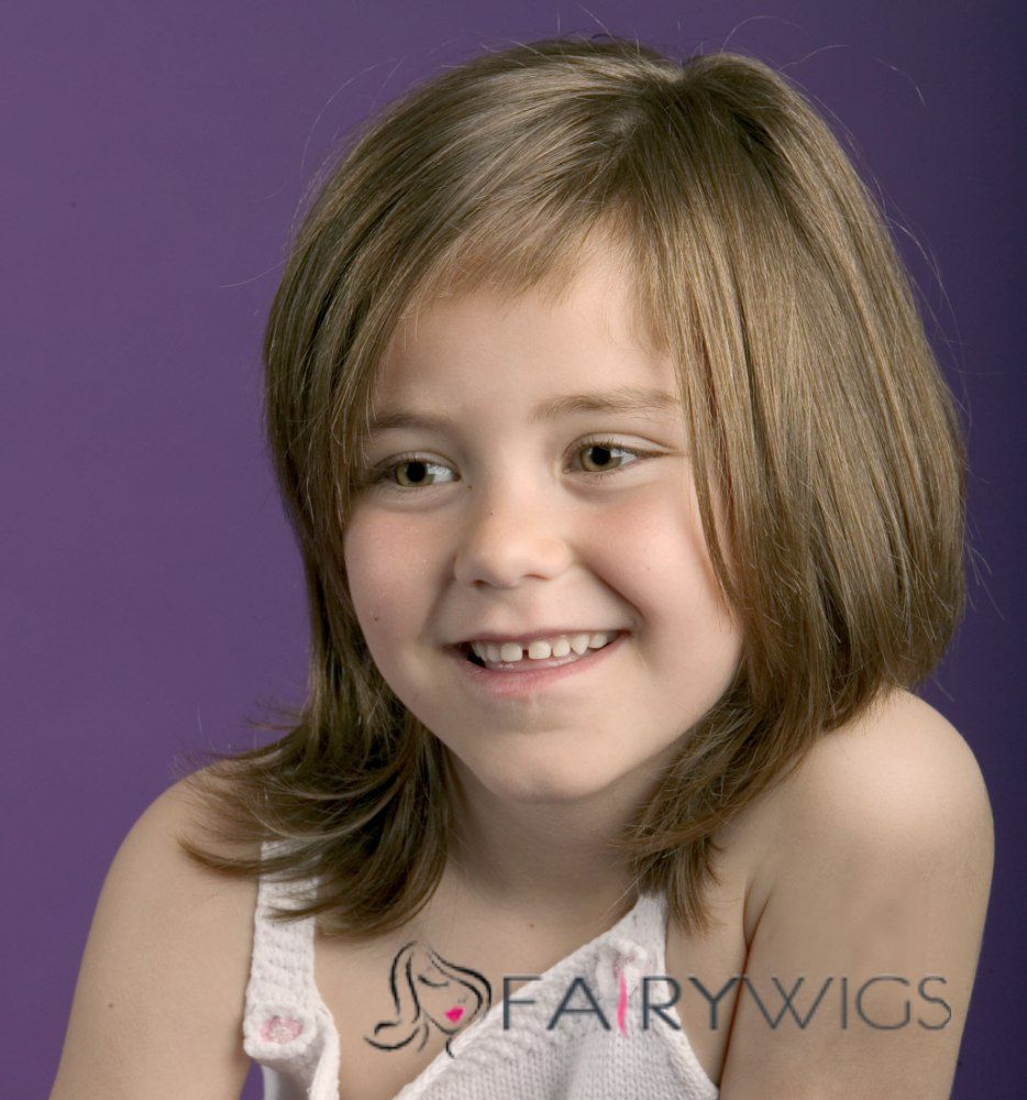 New Impressive Medium Gray 100 Indian Remy Hair Kids Wigs 14 Inch