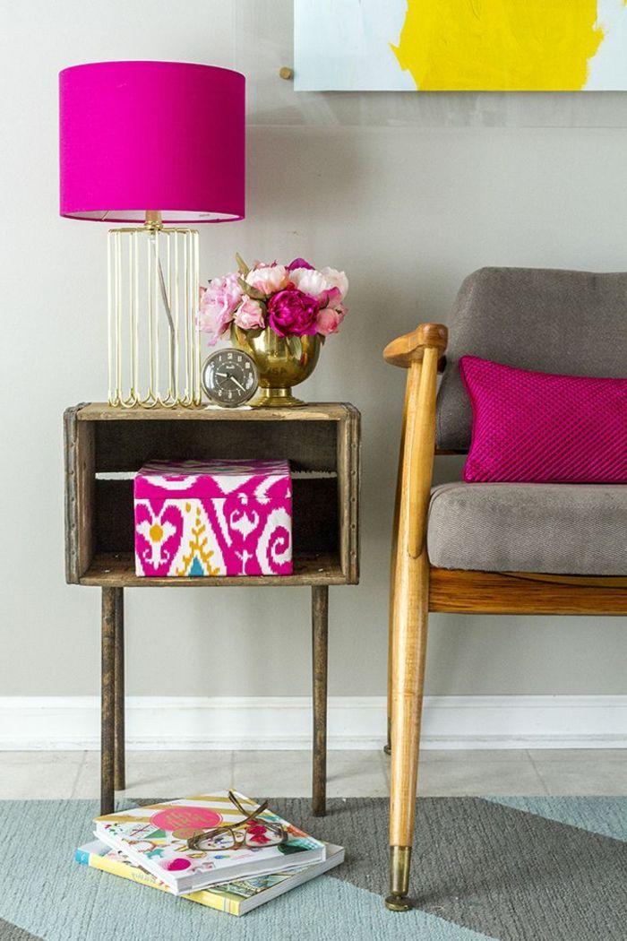 ▷ 1001 + idées déco avec une table de chevet originale Meubles - Peindre Table De Chevet