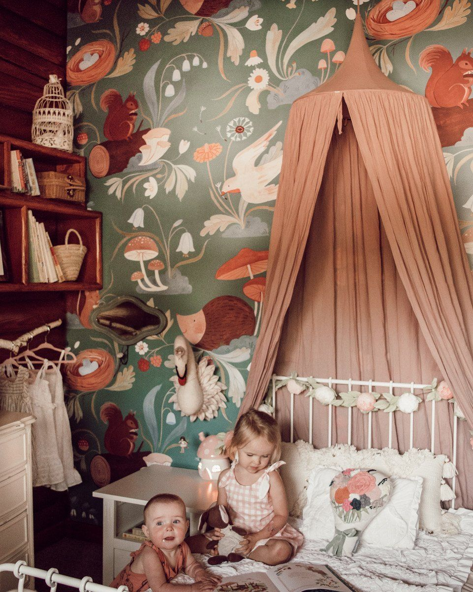 """Pippie Mural - Wallpaper / Traditional - 150""""W x 1"""