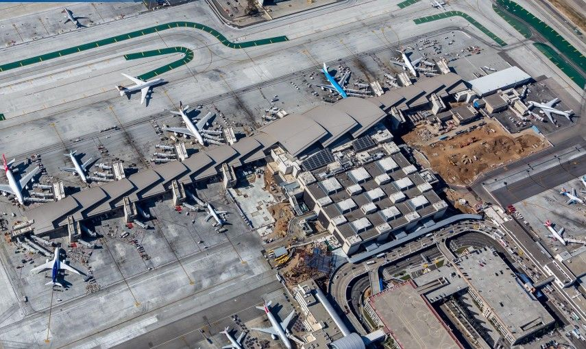 New gates at the new Tom Bradley International Terminal (TBIT) are