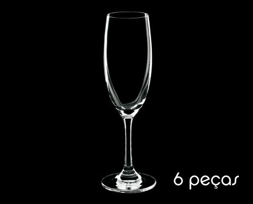 jogo de taça cristal 220ml 6pc-branca- hercule vetro