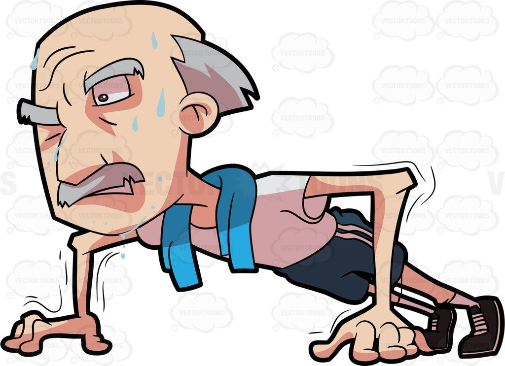 Image result for old guy doing pushups