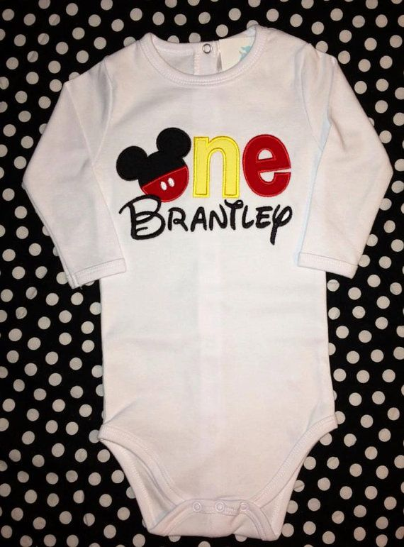 Mickey First Birthday Shirt ONE