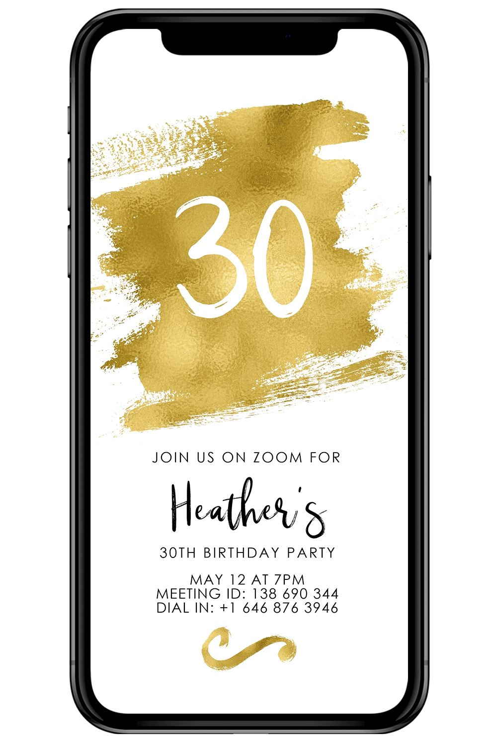 Facetime Party Invite Virtual Party Evite Self Isolating Etsy In 2020 Party Invitations Virtual Party Editable Invitations