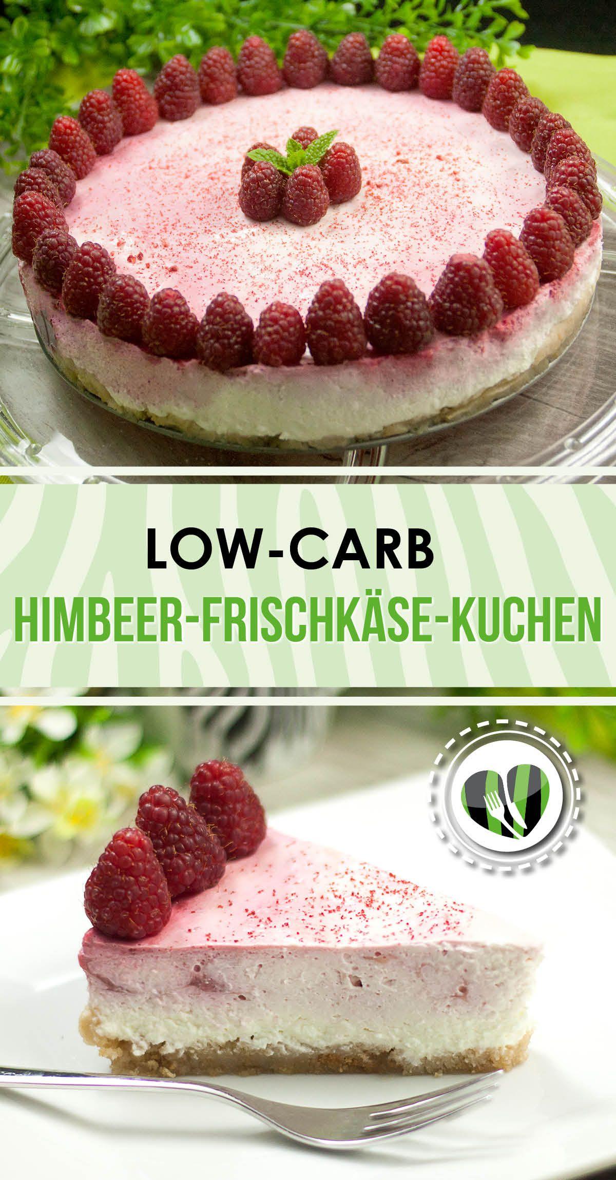 Low Carb Kuchen Backen Himbeer Frischkase Kuchen Ein No Bake Cake