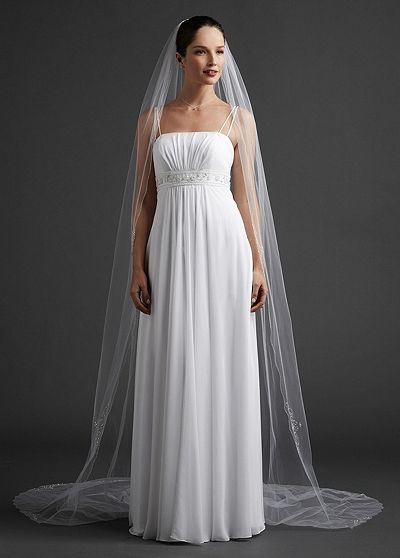 Cathedral Length Veil with Beaded Edge V910LONG
