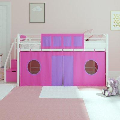 Zoomie Kids Seekonk Curtain Set Bunk Bed Accessory Wayfair Kids Loft Beds Loft Bed Girls Loft Bed