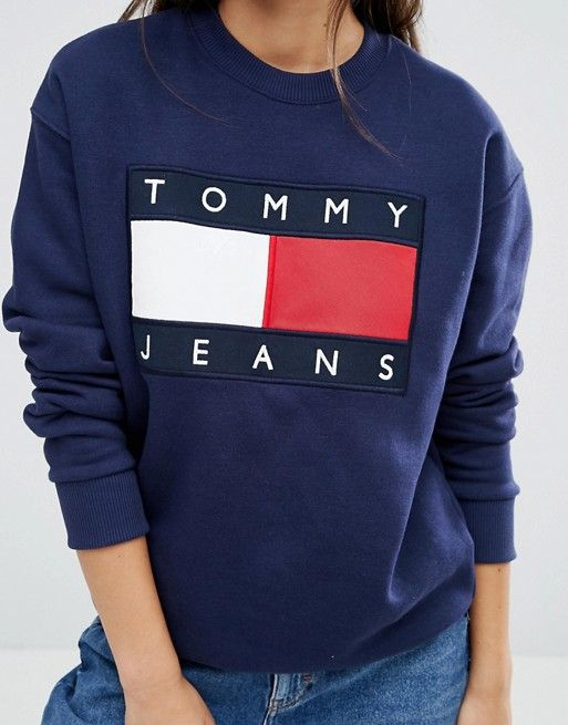 7916b819456 Tommy Jeans Oversize Logo Sweatshirt | Cute hairstyles | Tommy jeans ...