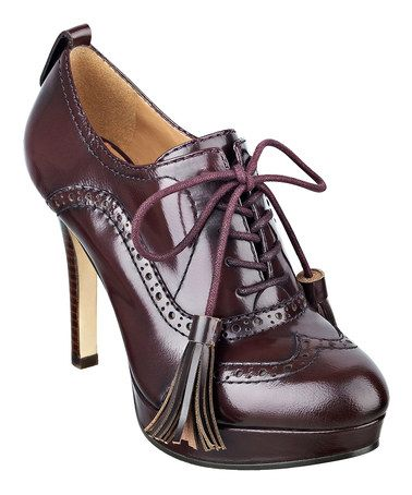 d4c6a6291b8b Beetroot Leather Brinley Pump by Tommy Hilfiger on  zulily  ad  those are  some serious tassels