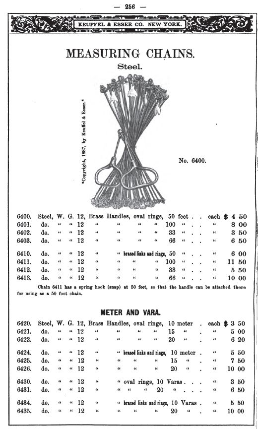 Chain Catalogue Price List Of Keuffel Esser Co Manufacturers