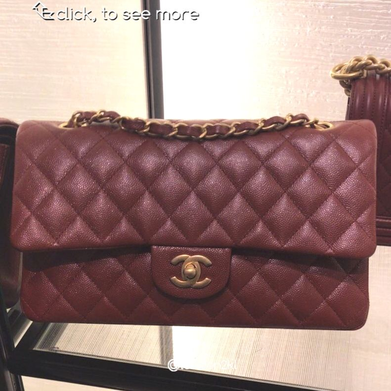 678e3d8d588605 Chanel Medium Flap Bag in Burgundy Caviar GHW RM22,500 | Luxury ...
