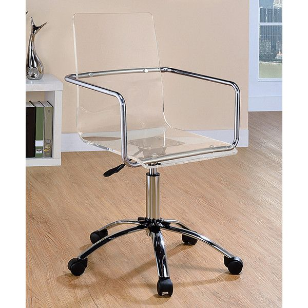 acrylic office chairs. Coaster Contemporary Acrylic Office Chair ($227) ❤ Liked On Polyvore Featuring Home, Furniture Chairs