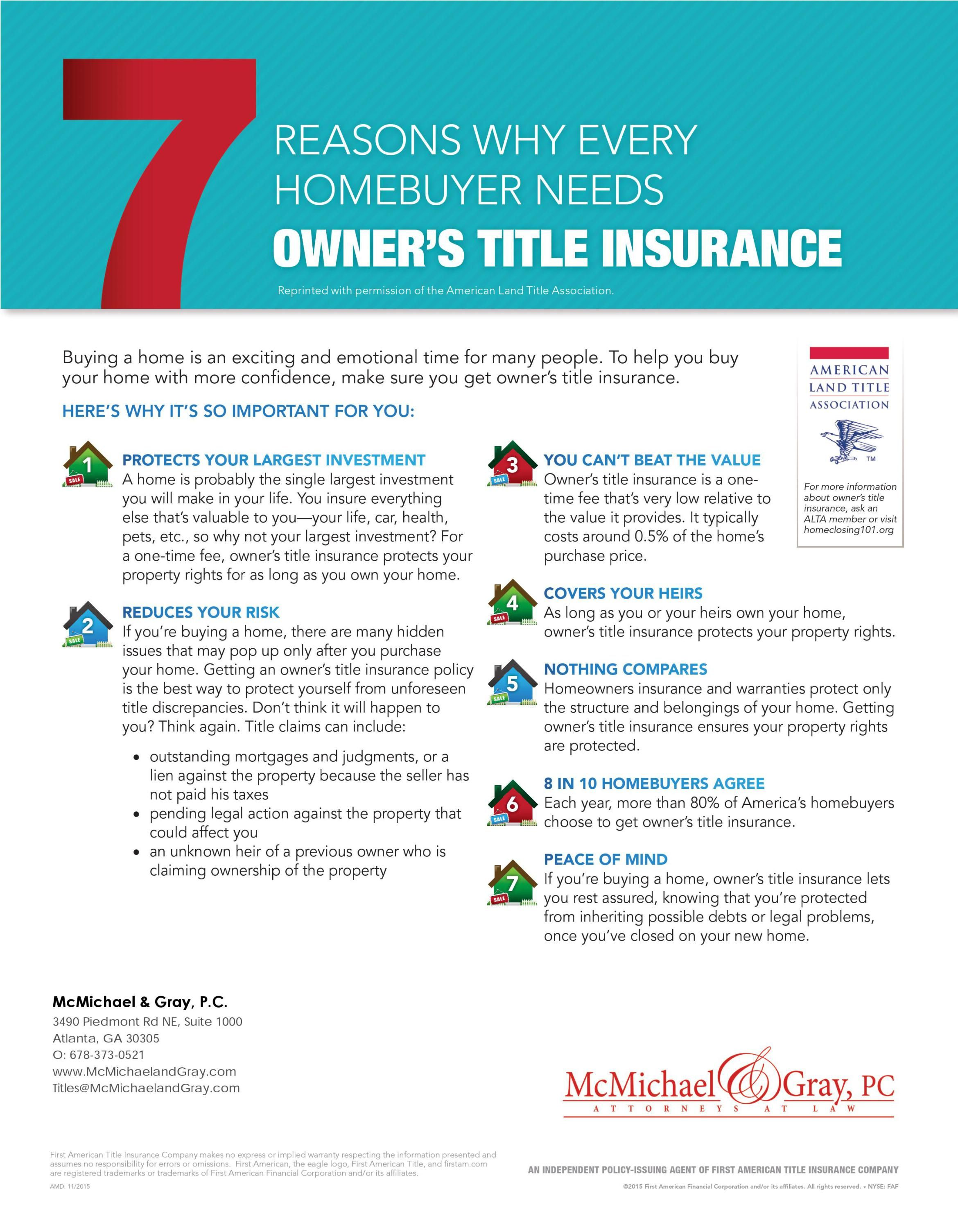 Ownerstitleinsurance Title Insurance Commercial Insurance
