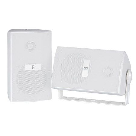 """Poly-Planar Ma3030W Ma3030W 3"""" Box Speakers White"""