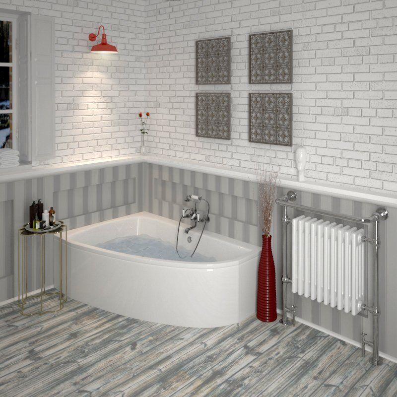 Clia Left Hand Offset Small Corner Bath Panel Buy Online At Bathroom City Small Corner Bath Corner Bath Corner Bath Shower