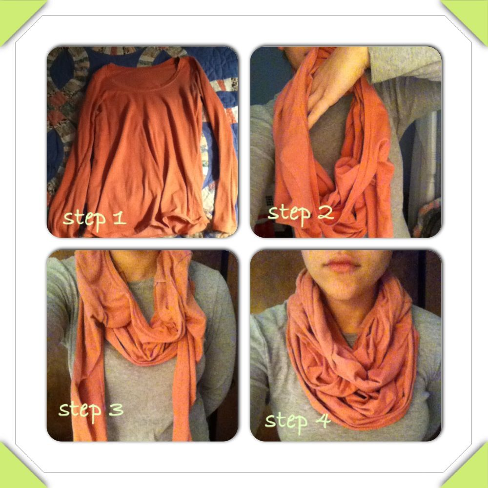 how to make a scarf out of an old shirt