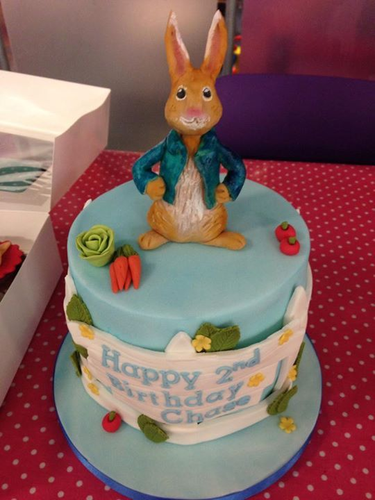 Peter Rabbit birthday cake for a little CBeebies fan cakes