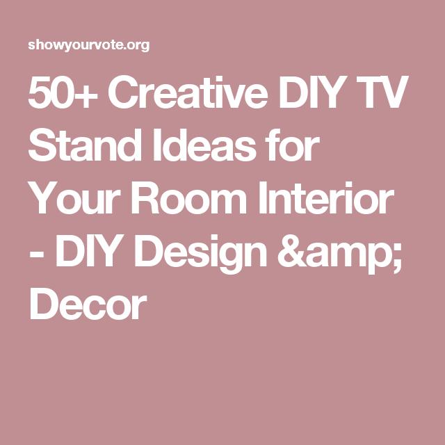 50+ Creative DIY TV Stand Ideas for Your Room Interior - DIY Design ...