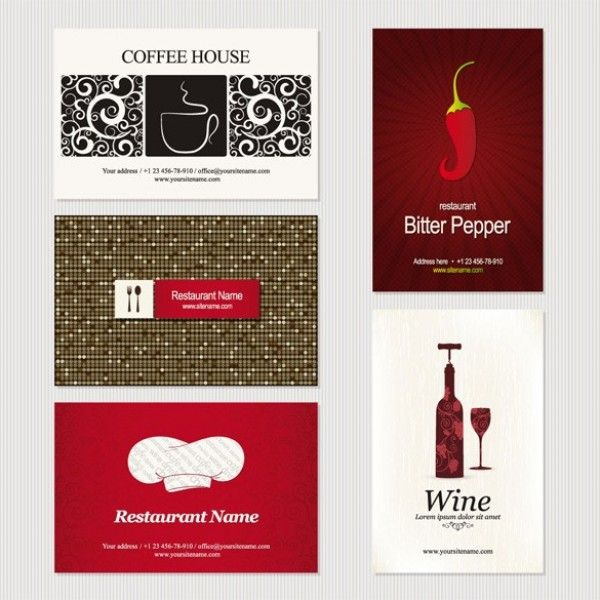 11 creative business card templates vector set httpwww set of 11 business card templates includes ideas for caferestaurant as well as card backgrounds vector set reheart Choice Image