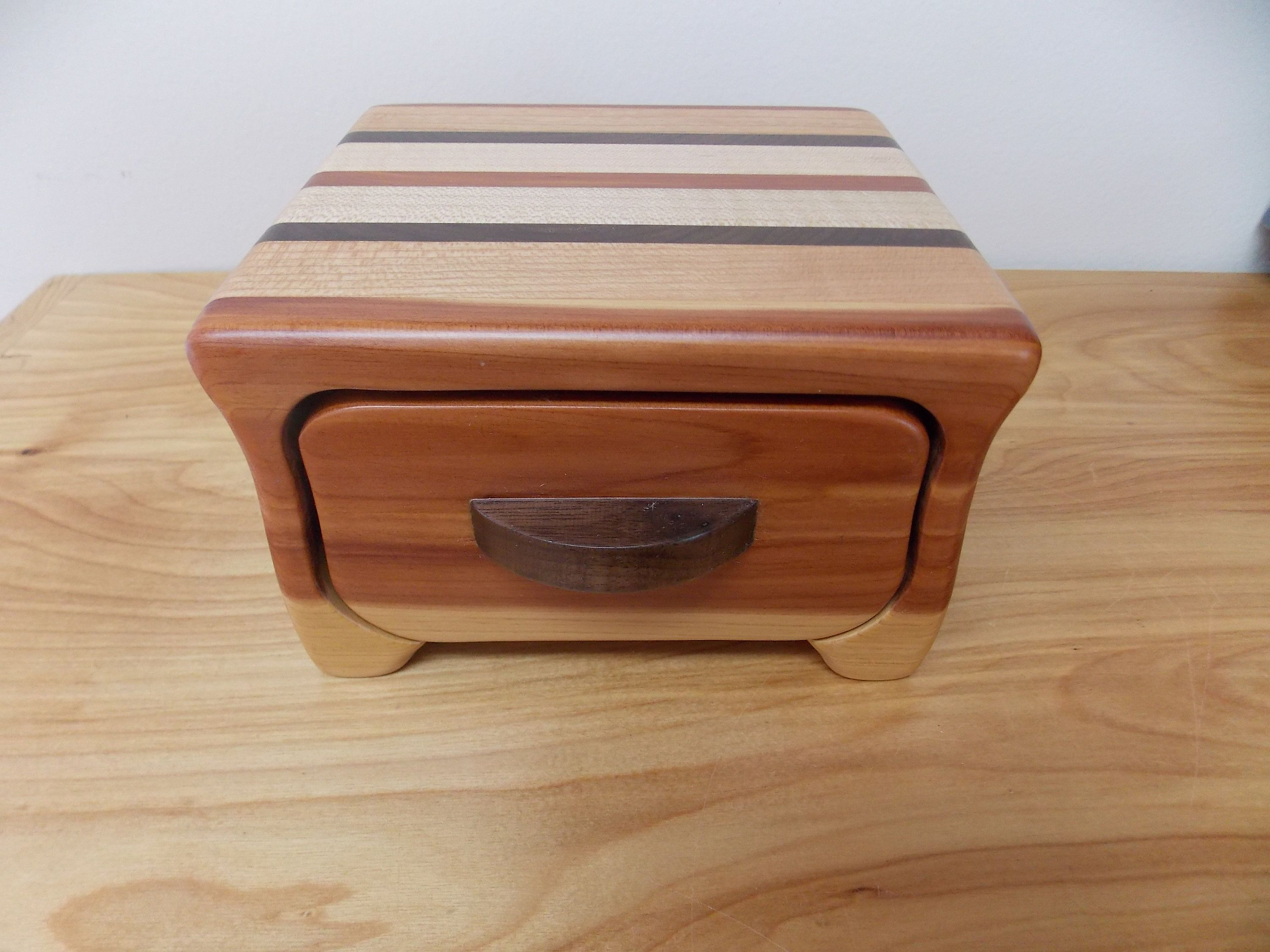 Small Cedar Jewelry Box Cedar Maple Cherry and Walnut Jewelry Box
