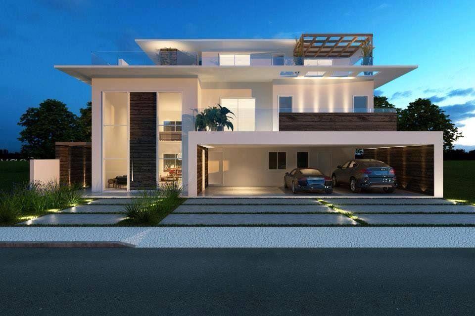 Fachadas de casas modernas decoraciones pinterest fachadas de casas modernas fachada de - Decoraciones de casas modernas ...