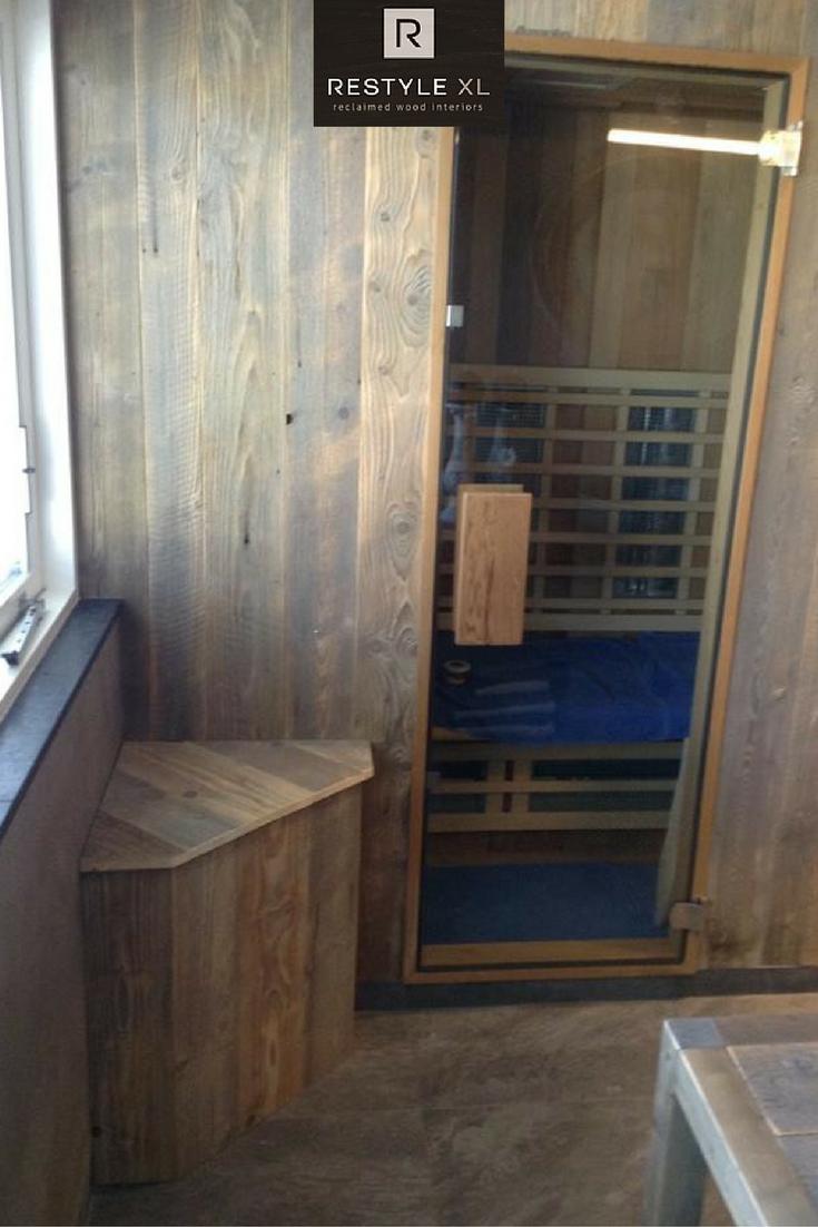 sauna ombouw van oud hout restylexl badkamermeubel badmeubel