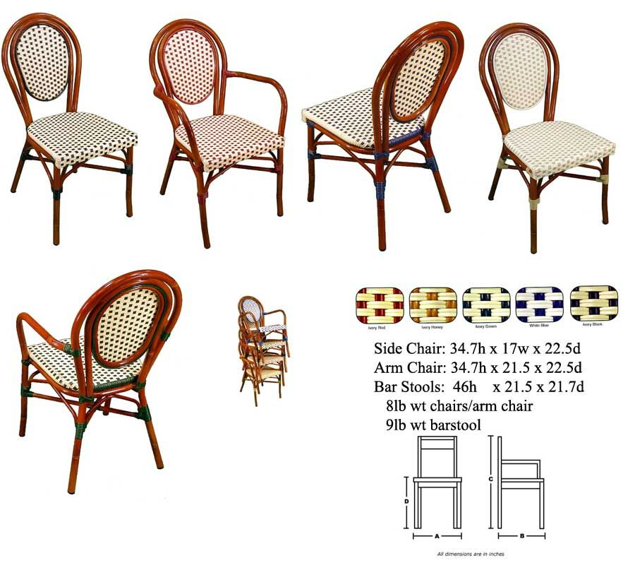 Many Design Styles In Aluminum Or Rattan At Good Prices. French Bistro  Aluminum Chair And