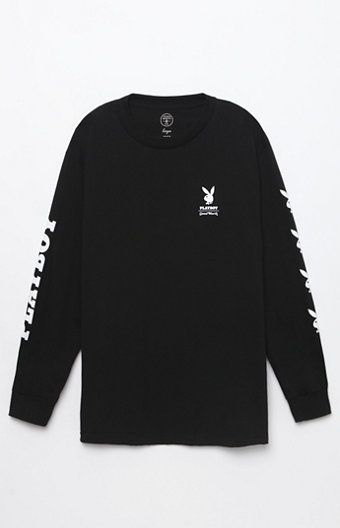 Showcase an iconic brand wherever you go in the Good Worth x Playboy Bunny  Long Sleeve T-Shirt. This rad tee has a classic crew neck d4abbab52