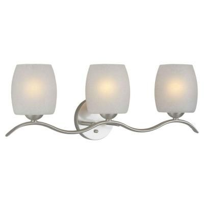 Talista Andrea Burton 3-Light Brushed Nickel Bath Vanity Light