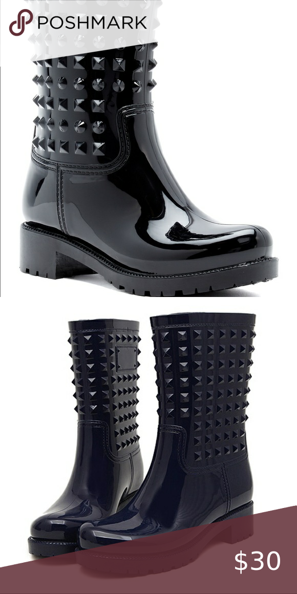 Dirty Laundry Studded Rain Boots Guc Rain Boots With Stud