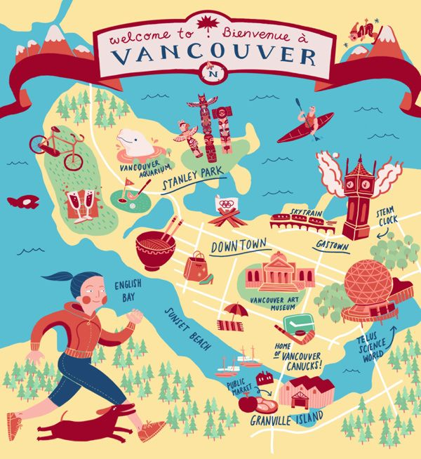Adela Kang Map Of Vancouver Maps Pinterest British - Vancouver canada map