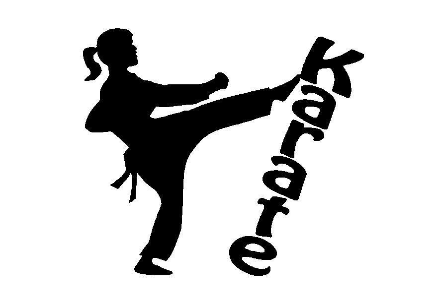 Karate Girl Silhouette Clipart Karate Karate Girl Shotokan Karate