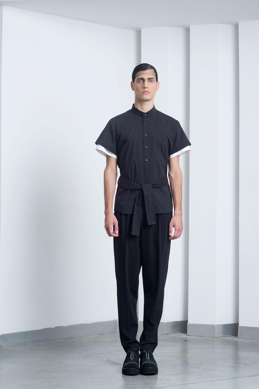d27ff271b6 Mens Black Kimono Shirt | Men's clothes in 2019 | Mens black shirt ...