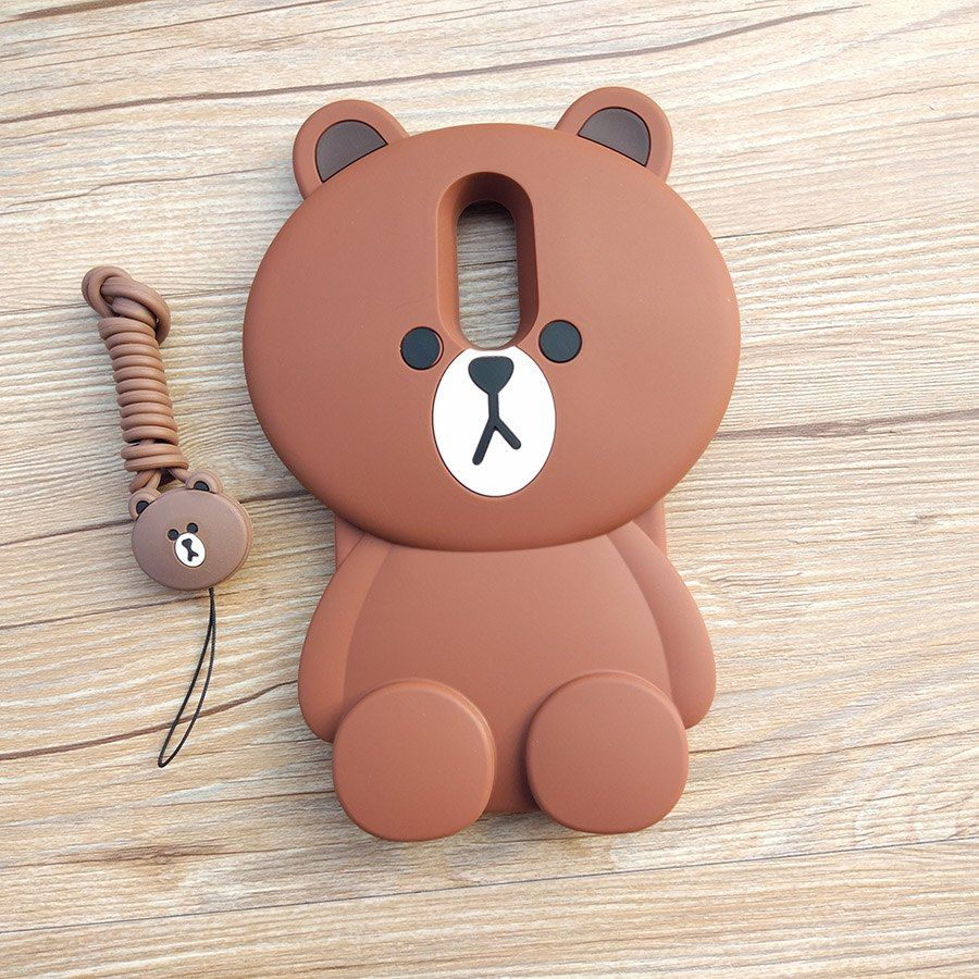 meet 50% off special section Cute Cartoon 3D Bear Phone Case For Xiaomi Redmi Note 5 ...