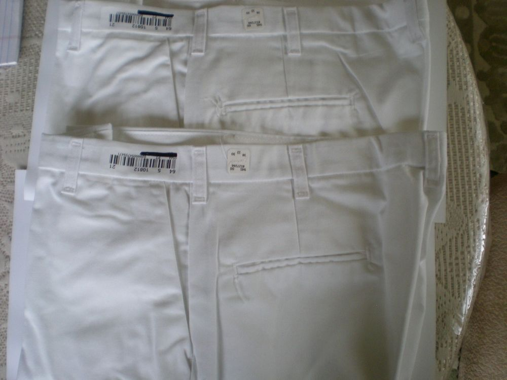63e36ecae eBay  Sponsored 2 X Cintas Comfort Flex WHITE Pants Size 38x30  945-00 for  men