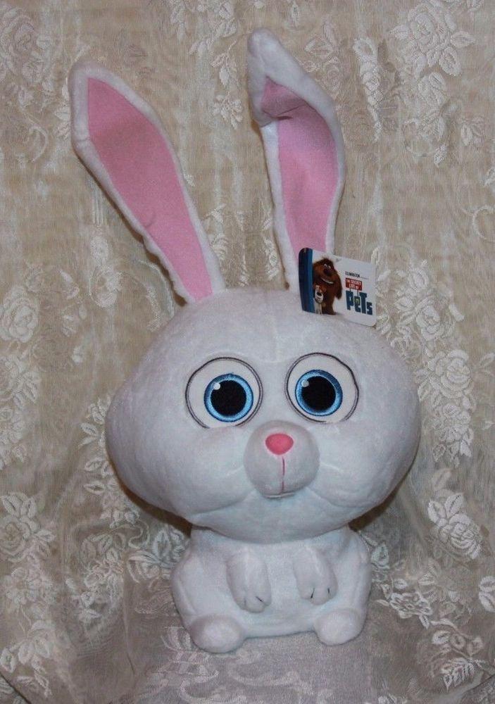 The Secret Life Of Pets 12 Tall Snowball Insane Bunny Plush Nwt