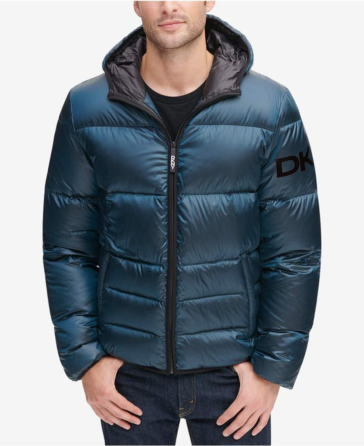 196e390f66 Dkny Men's Hooded Puffer Jacket, Created for Macy's - Yellow in 2019 ...