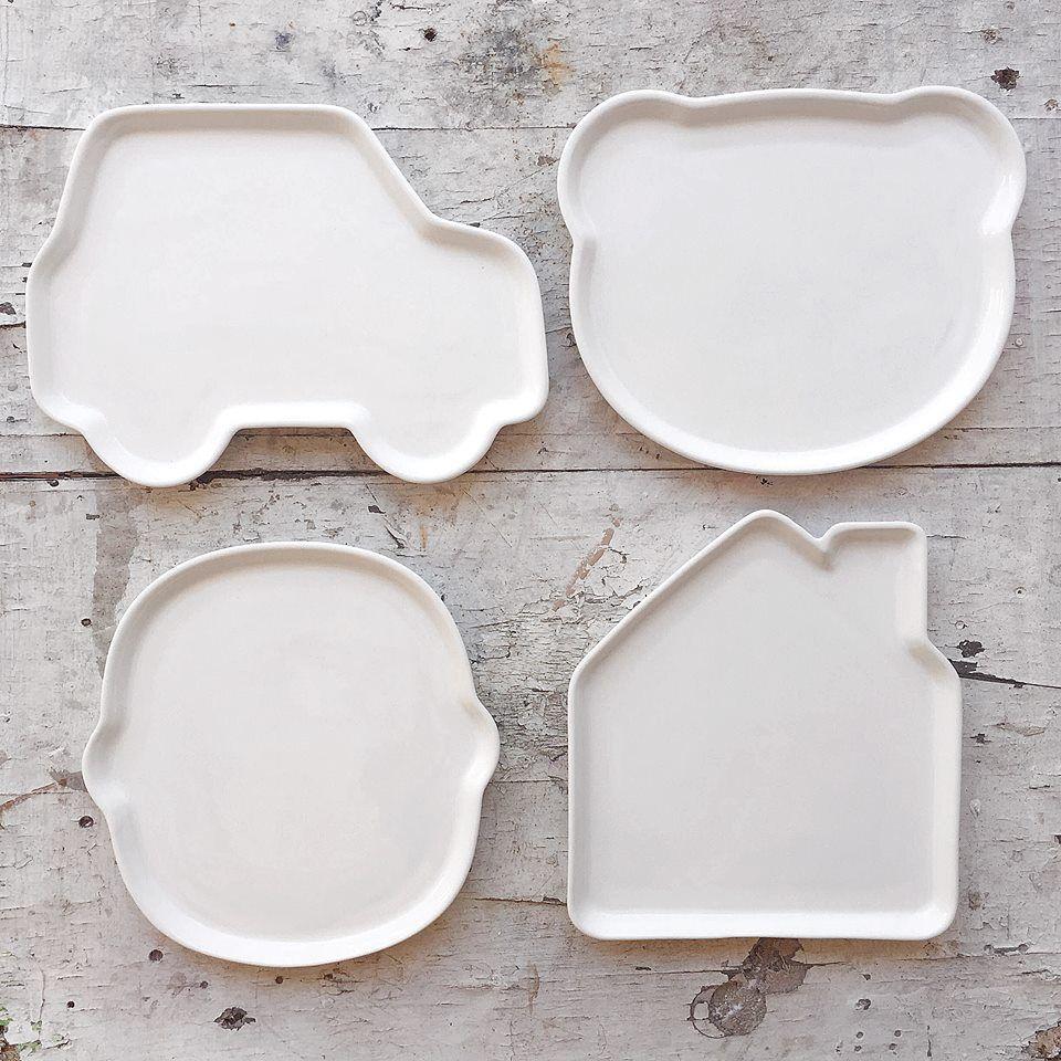 Ceramics kids plate -  Platos de ceramica para niños para hacer de la comida un momento más divertido, vajilla infantil, platos divertidos - ceramic plate for kids, fun at table, fun meal, kids tableware #platosdivertidos #mesadivertida