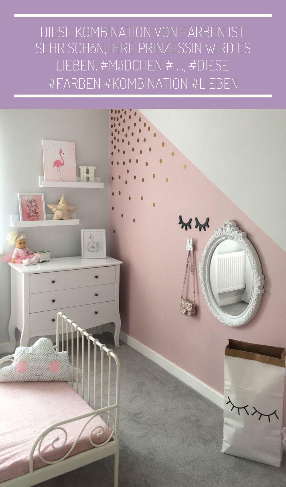 Diese Kombination Von Farben Ist Sehr Schön Ihre Prinzessin Wird Es Lieben M Babyzimmer Wandge Schlafzimmer Mädchen Mädchenzimmer Streichen Zimmer Mädchen