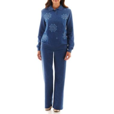 d688b398fd4b71 Alfred Dunner® Better Together Embroidered Knit Top or Pants found at @ JCPenney