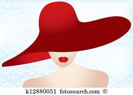 Lady With A Hat Painting Ladies Hat Clip Art And Illustration 4 171 Ladies Hat Clipart Vector Lady With Hat Painting Hat Painting Ideas Hat Painting