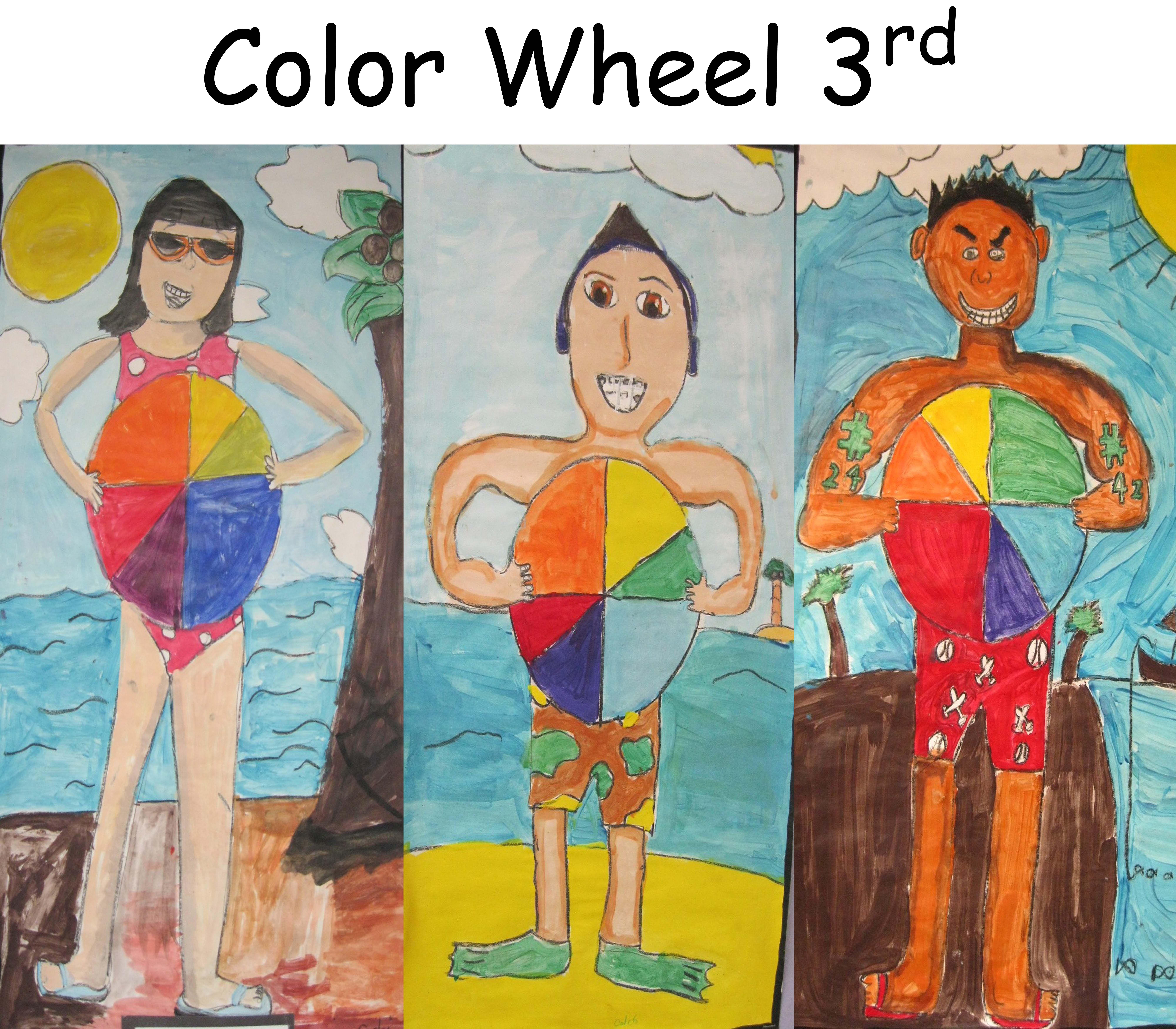 Color Wheel Beach Ball In