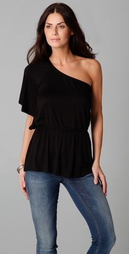 fdd04433940 Ella Moss Draped One Shoulder Top, $88.00 |  www.findbuy.co/store/shopbop-com #EllaMoss