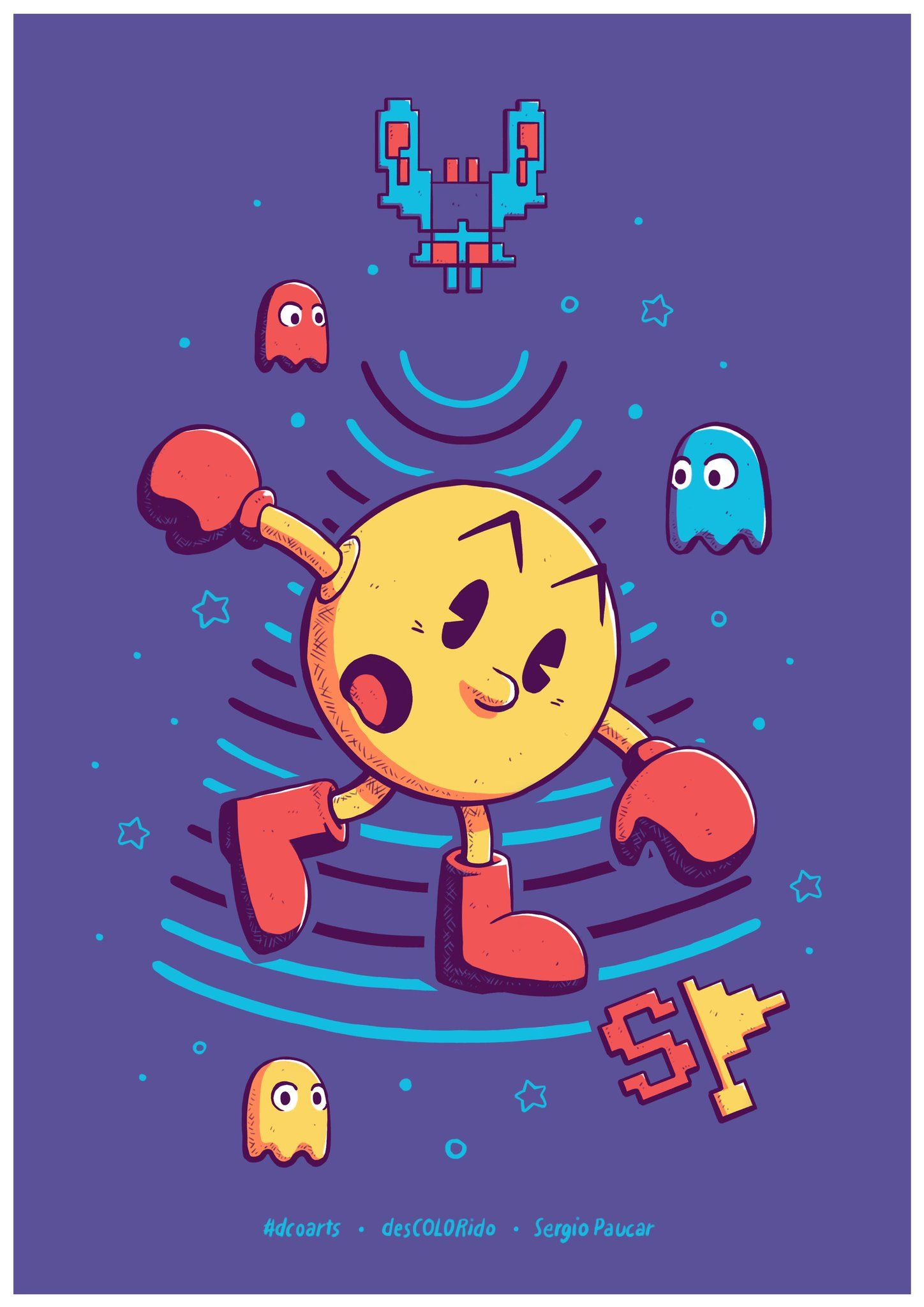 f8b13392890 Fanart de Pac-man por desCOLORido (Sergio Paucar) (dcoarts ...