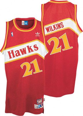 028f07865f4c Dominique Wilkins Jersey  adidas Red Throwback Swingman  21 Atlanta Hawks  Jersey