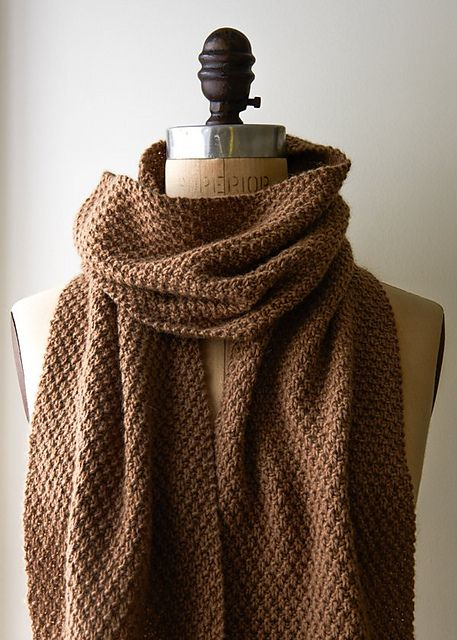 Ravelry: Double Seed Stitch Scarf pattern by Purl Soho | Knitting ...