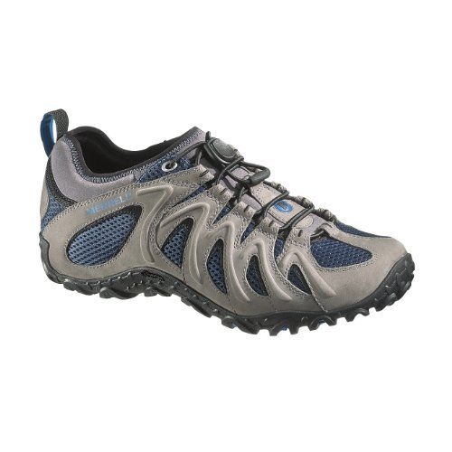 3fd94097ef39 Merrell Shoes Men Chameleon 4 Merrell Men s Chameleon 4 Stretch Hiking Shoe  Leather Vibram sole Bungee Ghillie lacing system Vibram sole 20% recycled  EVA ...